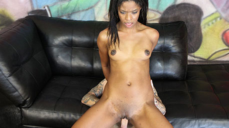Ashlyn Sixxx Sits on a Cock and Rides It Deep